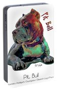 Pit Bull Pop Art Portable Battery Charger