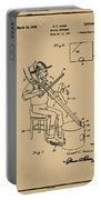 Pitch Fork Fiddle And Drum Patent 1936 - Sepia Portable Battery Charger