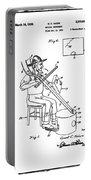 Pitch Fork Fiddle And Drum Patent 1936 - White Portable Battery Charger