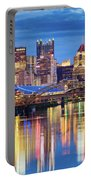 Pittsburgh 2 Portable Battery Charger by Emmanuel Panagiotakis