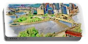 Pittsburgh Aerial View Portable Battery Charger