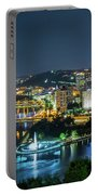 Pittsburgh At Night Portable Battery Charger