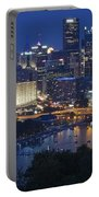Pittsburgh Blue Hour Panoramic Portable Battery Charger