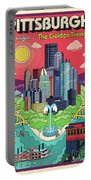Pittsburgh Poster - Pop Art - Travel Portable Battery Charger