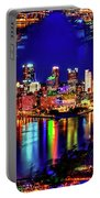 Pittsburgh Skyline Art Portable Battery Charger