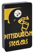 Pittsburgh Steelers Team Vintage Art Portable Battery Charger