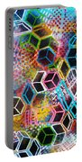 Pixelated Cubes Portable Battery Charger