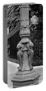 Place Charles De Gaulle - Black And White Portable Battery Charger