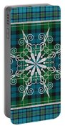 Plaid Snowflakes-jp3704 Portable Battery Charger