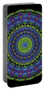 Plaid Wheel Mandala Portable Battery Charger