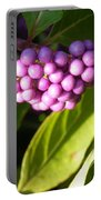 Planting Fields Purple Portable Battery Charger