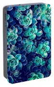 Plants Of Blue And Green Portable Battery Charger