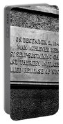 Plaque Commemorating Chicago Pile-1 Portable Battery Charger
