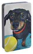 Playful Dachshund Portable Battery Charger by Megan Cohen