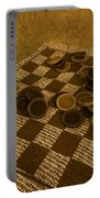 Playing Checkers On A Rug Portable Battery Charger