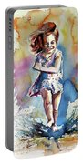 Playing Girl Portable Battery Charger