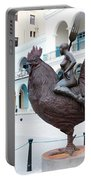 Nude On Rooster Portable Battery Charger