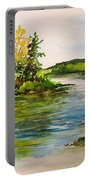 Plein Air At Grand Beach Lagoon Portable Battery Charger