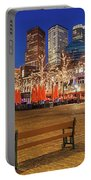Plein Square At Night - The Hague Portable Battery Charger