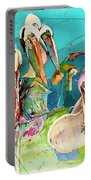 Plethora Of Pelicans Portable Battery Charger