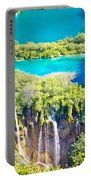 Plitvice Lakes National Park Vertical View Portable Battery Charger