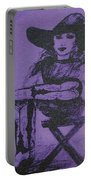 Plum Cowgirl Portable Battery Charger