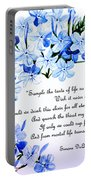 Plumbago   Poem Portable Battery Charger