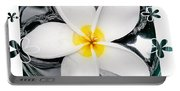 Plumeria In Water Portable Battery Charger