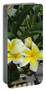 Plumeria In Yellow 2 Portable Battery Charger