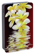 Plumeria Reflections By Kaye Menner Portable Battery Charger