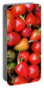 Plump Red Peppers Photo Stock Portable Battery Charger