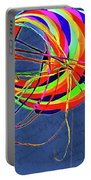 Poetry Of Kite Swirls Portable Battery Charger