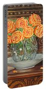 Poetry Of Roses Portable Battery Charger
