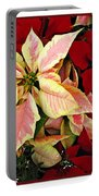 Poinsetta Greetings Portable Battery Charger