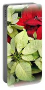Poinsetta Mix Portable Battery Charger