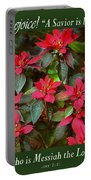 Poinsettia Christmas Portable Battery Charger