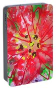Poinsettia For Christmas Portable Battery Charger