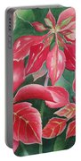 Poinsettia Magic Portable Battery Charger