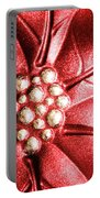Poinsettia Abstract Portable Battery Charger