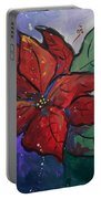 Poinsettia Pizzaz Portable Battery Charger