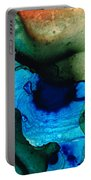 Point Of Power - Abstract Painting By Sharon Cummings Portable Battery Charger