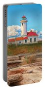 Point Wilson Lighthouse And Driftwood Portable Battery Charger