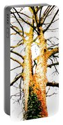 Pointillised Tree Portable Battery Charger