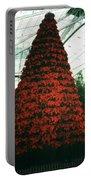 Pointsettia Tree Portable Battery Charger