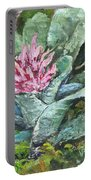Poison Dart Frog On Bromeliad Portable Battery Charger