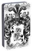 Poker King Spades Black And White Portable Battery Charger
