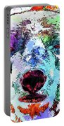 Polar Bear Colored Grunge Portable Battery Charger
