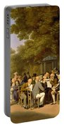 Politicians In The Tuileries Gardens Portable Battery Charger by Louis Leopold Boilly