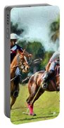 Polo Players And Ponies Portable Battery Charger