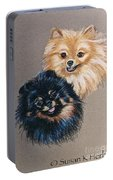 Pomeranian Pair Portable Battery Charger